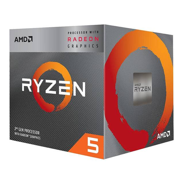 AMD Ryzen 5 3400G w/Radeon RX Vega 11 Quad-Core 3.7GHz AM4, Retail