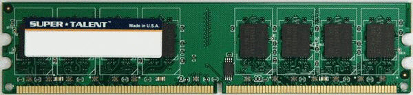 Super Talent DDR2-800 2GB/128x8 Hynix Chip