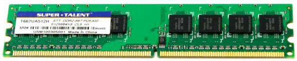 Super Talent DDR2-667 512MB/64x8 Hynix