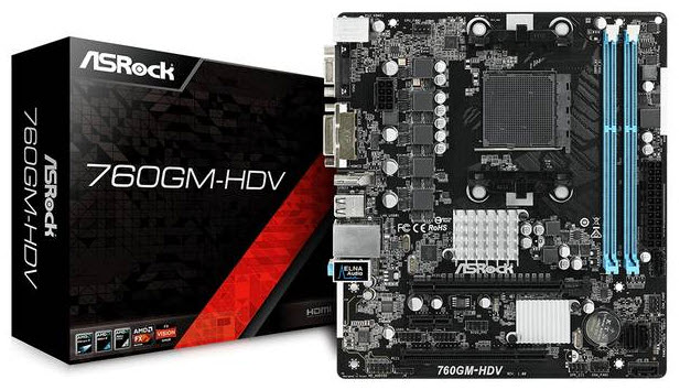 ASROCK 760GM-HDV AM3+/AMD 760G/DDR3 MicroATX