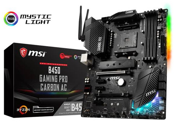 MSI B450 GAMING PRO CARBON AC AM4/AMD B450/DDR4 ATX