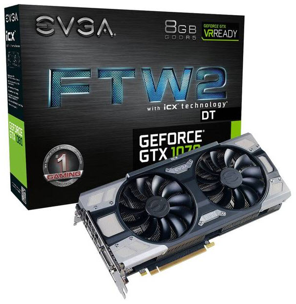 EVGA NVIDIA GeForce GTX 1070 FTW2 DT GAMING 8GB PCI-E