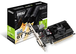 MSI NVIDIA GeForce GT 710 2GB DDR3 Low Profile PCI Express