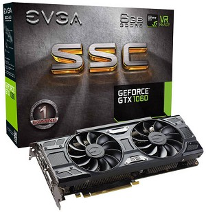 EVGA NVIDIA GeForce GTX 1060 SSC GAMING 6GB GDDR5 PCI-E